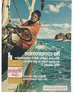 1979 Vintage Magazine Advertisiment Winston Lights Cigarette