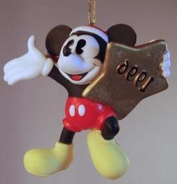 1996 Mickey Mouse on Star Christmas Ornament - Enesco