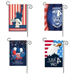 1Pc 4th Of July Independence Day Patriot Garden Flag Banner