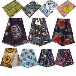 1Yard African Wax Printed Fabric Floral Cloth DIY Dress Clot