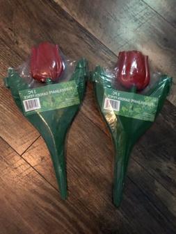 2 - 3 Pack - Vintage Plastic Tulip Yard Garden Decor Decorat