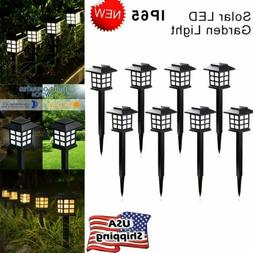 2/4/8Pcs Solar LED Garden Lights Auto Patio Yard Light Outdo