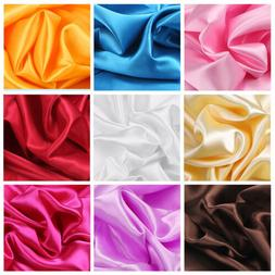 2/5 Yards Luxury Silky Satin Fabric for Bridal Dress Wedding