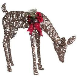 2.6 ft. Pre-Lit Glittering Feeding Doe Christmas Yard Decor
