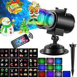 2-In-1 Christmas Projector Lights With Ocean Waves 12 Moving