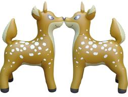 2 Inflatable Deer Animal Home Yard Decor Holiday Gift Party