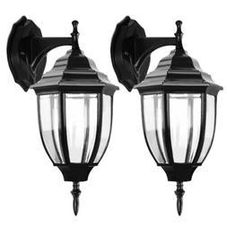 2 Pack Outdoor Porch Light Wall Lantern Lamp Light Fixtures