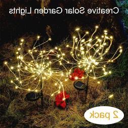 2 pcs Firework Starburst 105 LED Solar Light for Holiday Yar