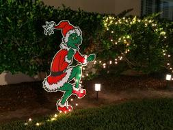 2 sided -ON SALE! GRINCH Stealing the CHRISTMAS Lights Yard