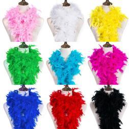 2 Yard Fluffy Feather Boa Craft Scarf Birthday Party Wedding