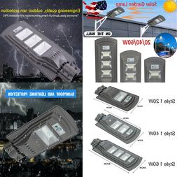 20/40/60W LED Solar Wall Street Light PIR Motion Outdoor Yar