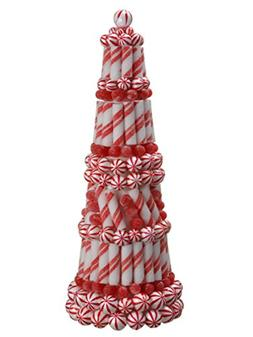 """20"""" Peppermint Twist Sugared Gumdrop Table Top Christmas Con"""