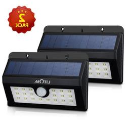 Litom 20 Big LED Solar Sensor Powered Wall Lights Weatherpro