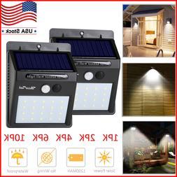 Waterproof 20 LED Solar Lights Motion Sensor Wall Light Outd