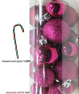 20 Holiday Time Mini Shatterproof Christmas Ball Decoration