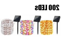 200 LED 72′ Solar Fairy String Light Copper Wire Outdoor W