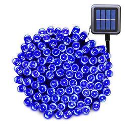 Ucharge 200 72 Feet Solar Powered String Blue LED Lights, Fa