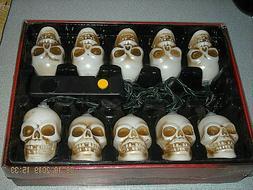 2008 Gemmy Blinking & Musical Skeleton Light Set Plays HALLO