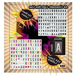 208 black and color letters ~number ~symbols for your A4 cin