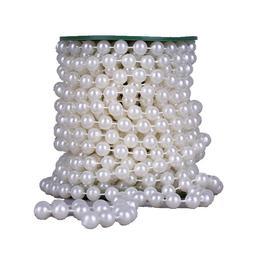 22 <font><b>yards</b></font> 10mm Large crystal Faux Pearls