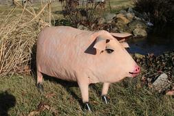 22' Metal Pink Pig Swine Yard Decoration