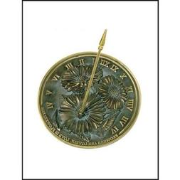Rome Industries 2302 Brass Flowers Sundial