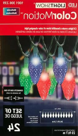 24 Gemmy Lightshow ColorMotion Color-Changing C9 LED Lights