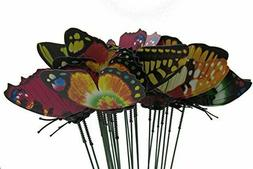24 Garden Stake Butterfly Yard Metal Decor Art Outdoor Home