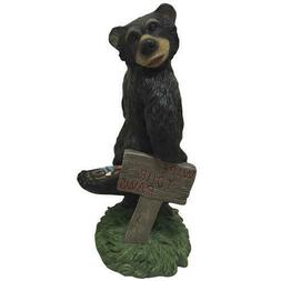 "24"" Outdoor Garden Yard Decor Wipe Your Paws Sign Black Bear"