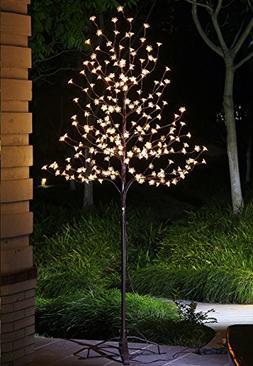 Lightshare 6.5Ft 240LED Pear Cherry Blossom Lighted Tree,War