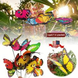 24Pcs Garden Butterfly Stakes Outdoor Yard Planter Flower Po