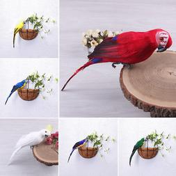 25/35cm Parrot Animal Bird Lawn Figurine Ornament Yard Garde