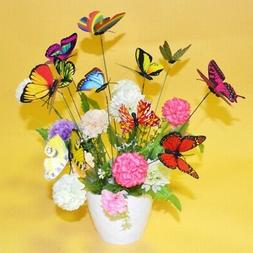 25Pcs Butterfly Stakes Outdoor Yard Planter Flower Pot Bed G