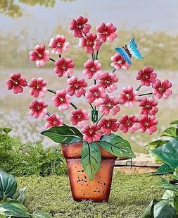 26 Light Solar Powered Flower Pink Yard Stake Day Or Night G