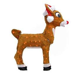"Product Works 26"" Rudolph in Santa Hat Christmas Yard Decor"