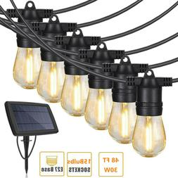 27 FT Waterproof Solar Powered Outdoor String Lights Ambienc