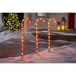"27"" Yard Lawn Christmas Holiday Decor Pre-lit Candy Cane Pat"
