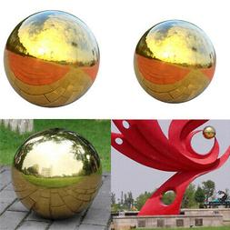 2Pcs 304 Stainless Hollow Ball Seamless Mirror Ball Sphere G