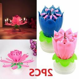 2PCS Magic Musical Lotus Flower Double-deck Blossom Birthday