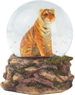3.25 Inch Orange Bengal Tiger Snow Globe