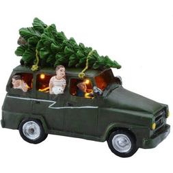 Holiday Time 3.375 Delivering The Tree Christmas Village by