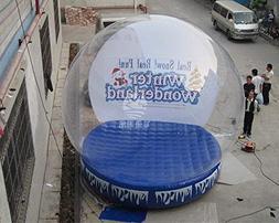 JYNselling 3/4M Airblown Inflatable Snow Globe Transparent B