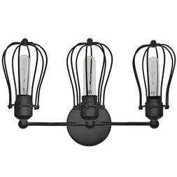 Barnyard Designs 3 Light Vanity Light Industrial Rustic Farm
