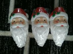3 New Sealed Empire Santa Face tree light toppers blow mold