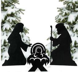 3 PC Nativity Silhouette Scene Yard Garden Outdoor Christmas