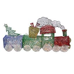 Northlight 3 Piece Glittering Lighted Christmas Train with P