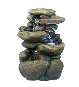 3 Tier Rock Fountain With Led Light