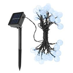 VicTec Outdoor 20ft 30 LED Dual Modes Solar String Lights fo