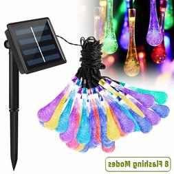 30 LED Solar String Lights Outdoor Waterproof Garden Path Ya