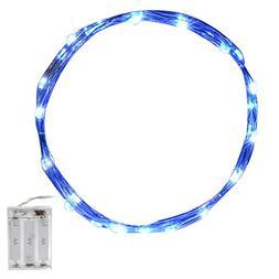 CrazyFire 3M/9.8ft Blue Starry Copper String Light AA Batter